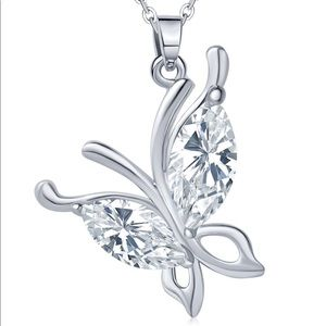 Jewelry - Crystal Butterfly Necklace